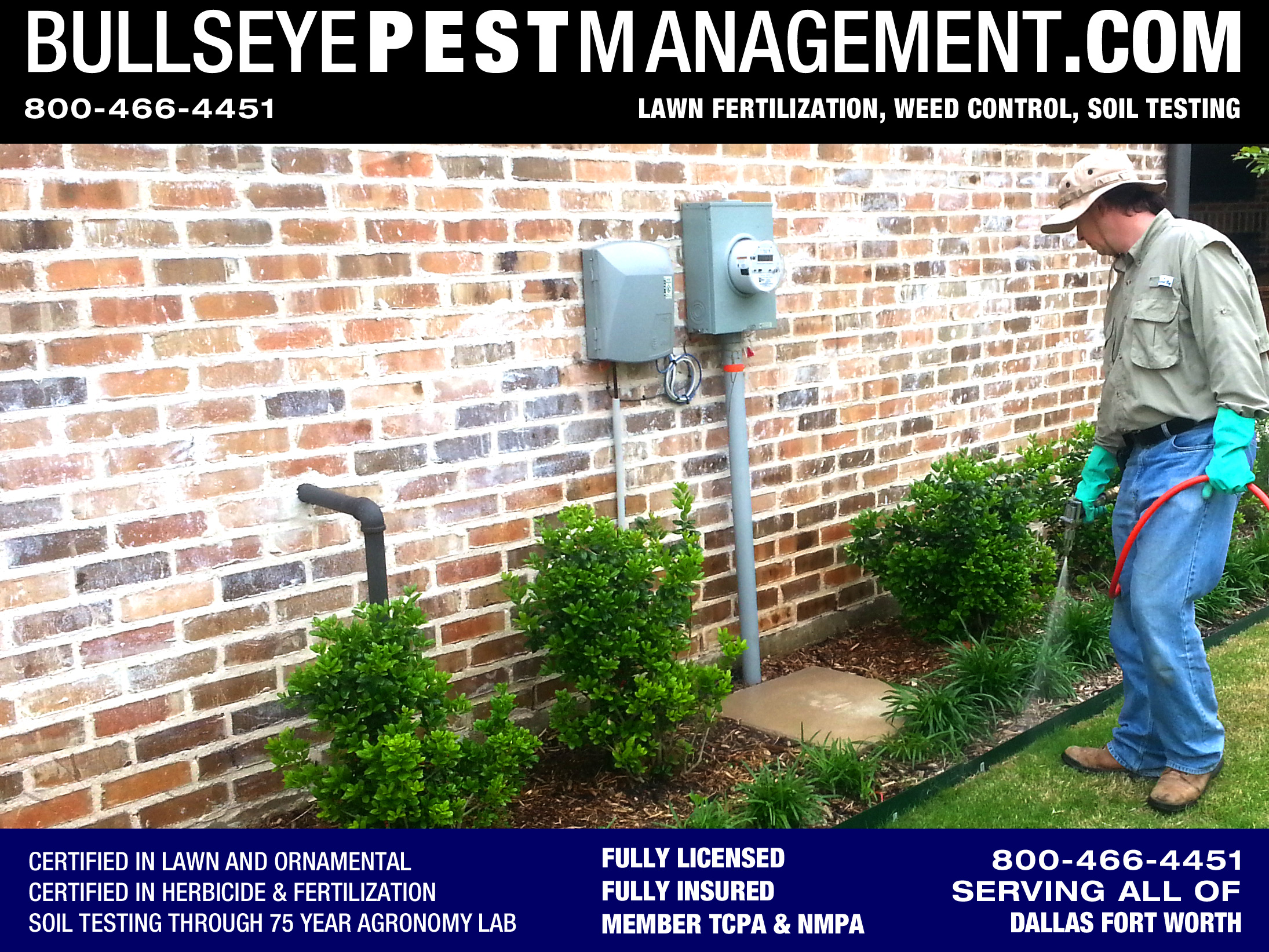 Bullseye Pest Managment performs Weed Control services for all of Dallas Fort Worth