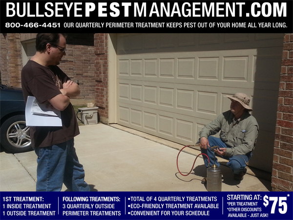 Bullseye Pest Management is here to take care of your Pest Control, your Lawn Prosperity and your Animal Removal needs, with superior industry knowledge and an honest willingness for great customer service.
