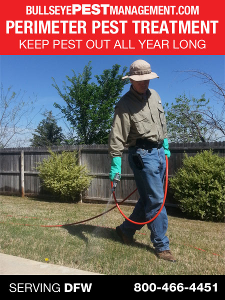 Bullseye Pest Management's Perimeter Pest Treatment Keeps Pest Out All Year Long
