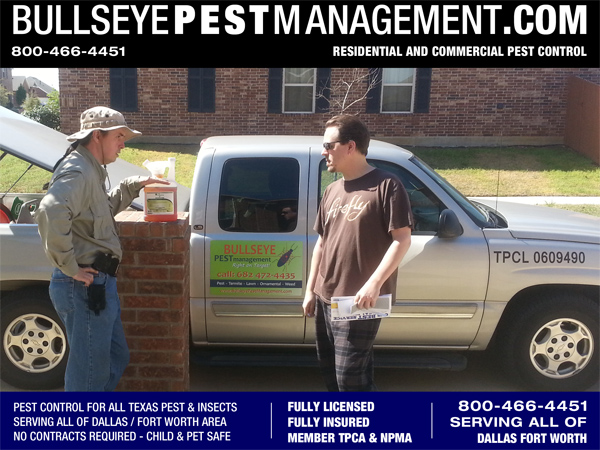 Bullseye Pest Management will take the time to discuss pesticide options including an Eco-friendly alternative for your home. We can review your Previous Pest control invoices and advise you on what chemicals have been used previously. Certified Applicator and Owner / Operator Steve Moseley is happy to review pesticide labels and explain how each chemical effects the insects and the ramifications to your environment.