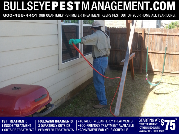 Pest Control perimeter treatment in Denton Texas