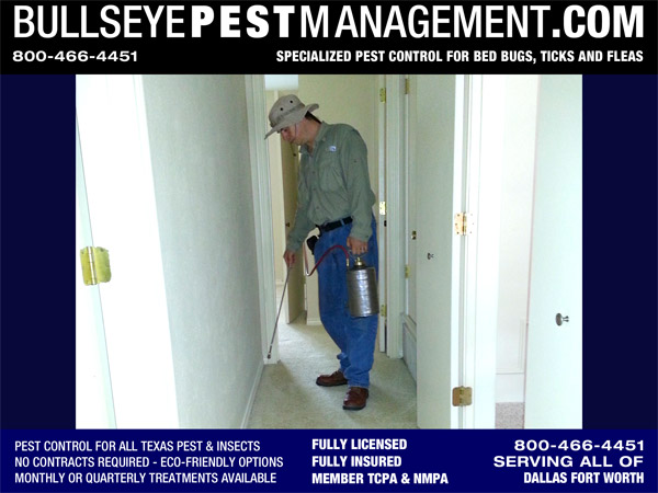 Flea and Tick treatments by Bullseye Pest Managment serving all of Dallas Fort Worth