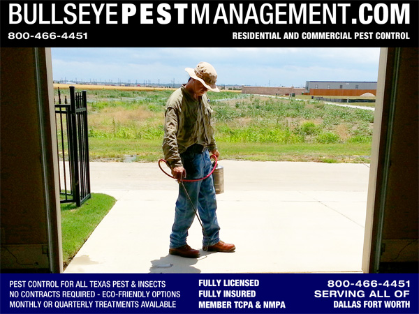 Pest Control in Frisco TX by Bullseye Pest Management in Arlington serving the entire DFW Metroplex and surrounding cities.