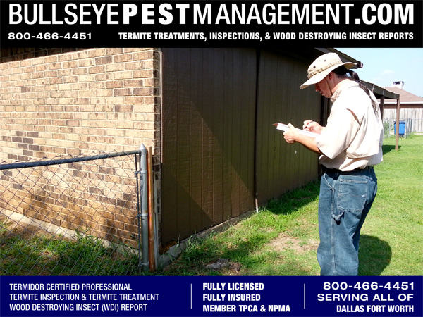 With experience in Pest Control dating back to 1999 and experience in Home Construction and Renovation dating back to 1985, Steve Moseley is uniquely qualified to perform Wood Destroying Insect (WDI) Reports.  At Bullseye Pest Management we are extremely serious about the accuracy, accountability and completeness of our reports.  Please call us at 800-466-4451
