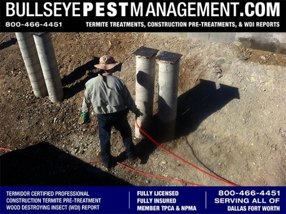 Termite Pre-Treat of New Home Construction by Bullseye Pest Management DFW Texas 800-466-4451