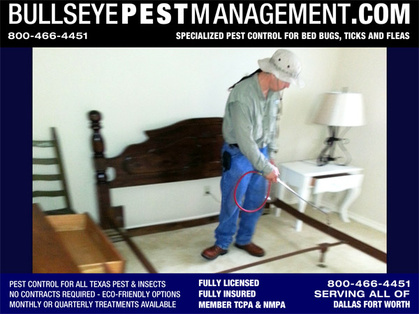 Bed Bug Treatment in Richardson Texas by Bullseye Pest Management